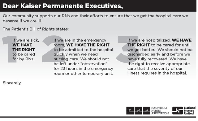 Kaiser patient bill of rights