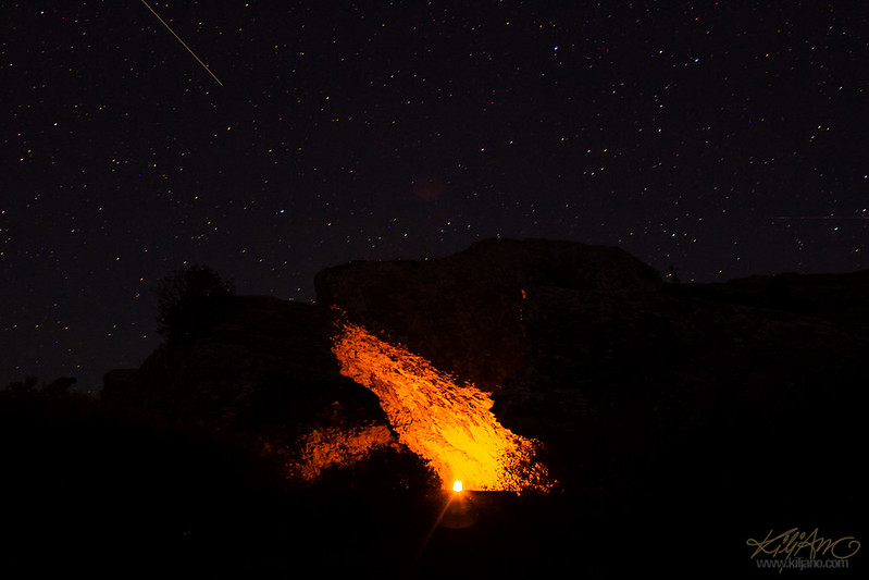 Campfire by Grogarnsberget