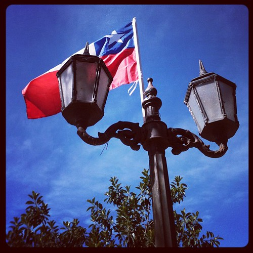 El farol y la bandera chilena / The lantern and the Chilean flag