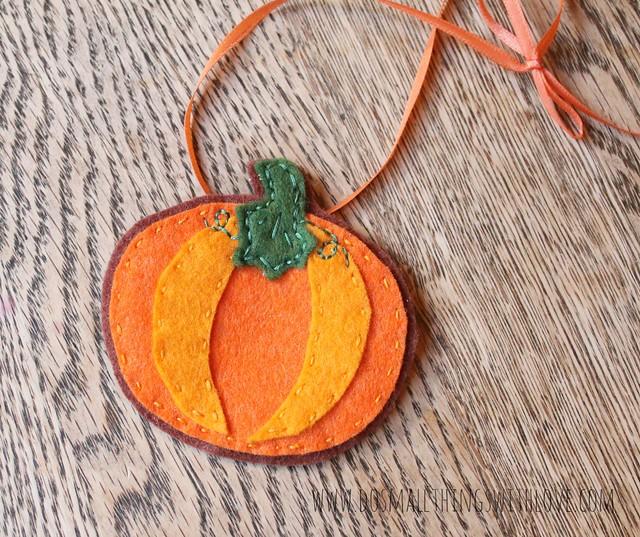 Pumpkin Felt Gift Tag