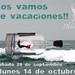 ¡¡NOS VAMOS DE VACACIONES!! by labuenavidavinoteca
