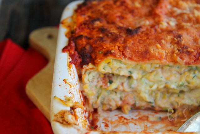 Lasagnes courgettes, ricotta et tomate