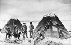 Sami camp at lake Luossajärvi, Lappland, Sweden