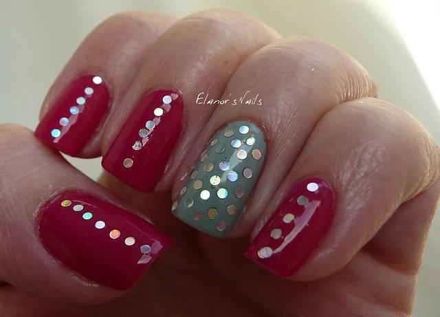 raspberry bavarois + silver glitter 3