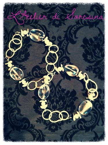 Cristallo di rocca con perle e spinello (Nr.162) by L'Atelier di Soresina