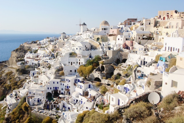 Oia Santorini white houses