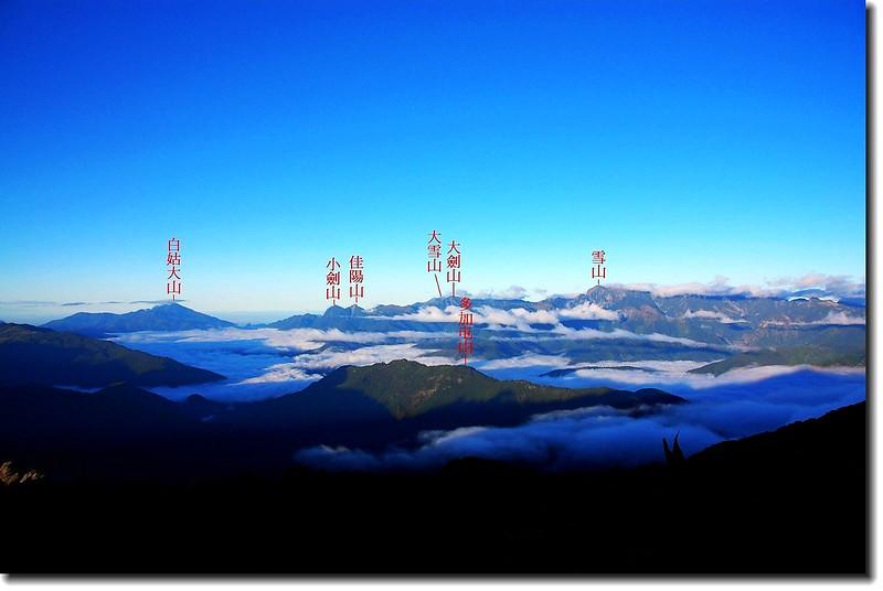 白姑、雪山山脈(From 南湖大山遠眺西南) 1-1