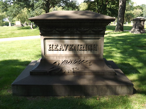 Woodmere Cemetery: Another Heavenrich Memorial--Detroit Mi