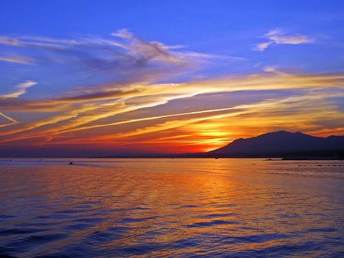 sunset españa paisajes atardecer mar day andalucia costadelsol puestadesol málaga marbella pwpartlycloudy