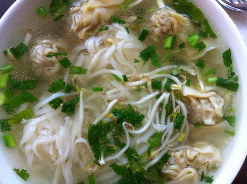 pho with wontons