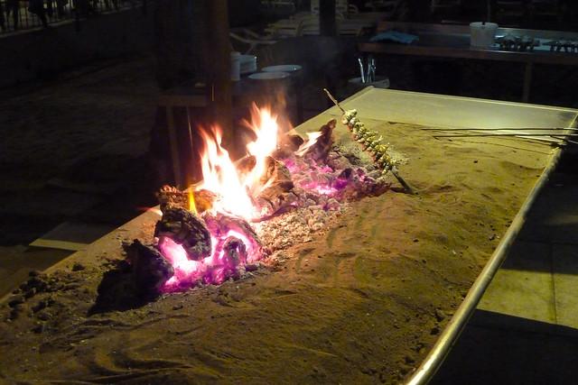 Fuengirola Tässä grillataan sardiinia - Grilling sardin