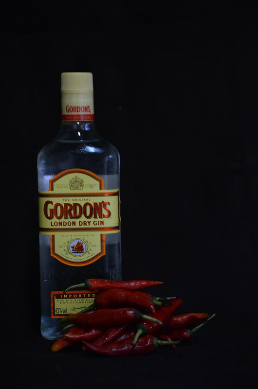 Gin Pepper sauce: the making