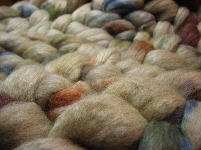 Mineral Ore - October Tiger Club - BFL Silk Combed Top