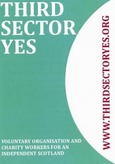 Third Sector Yes leaflet, November 2013