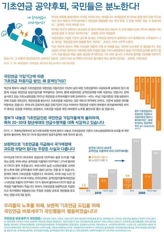 20131204_선전물_보편적 기초연금 도입을 위한 3차 행동의 날 (1)