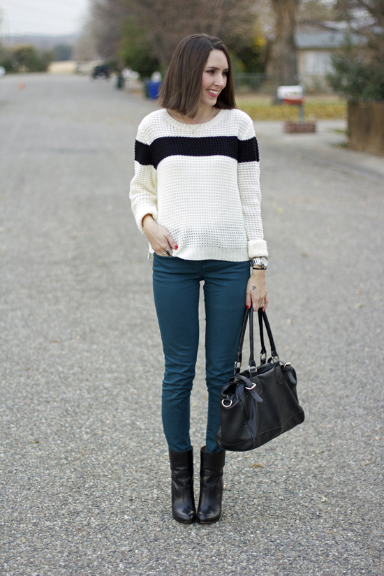 black-and-white-sweater