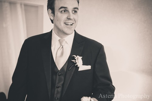 Groom looking hot while getting ready