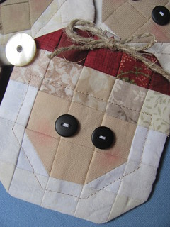 Santa quilted ornaments