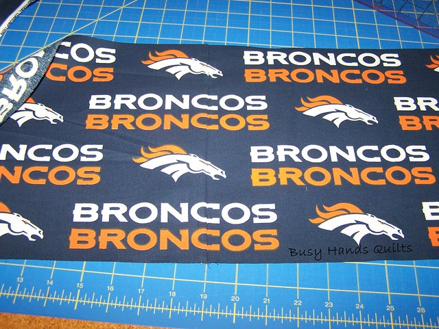 Custom King-Sized Seahawks / Broncos Quilt