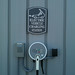 MassDOT posted a photo:	Closeup of the Cape Air Nissan Leaf electric vehicle charging station at Nantucket Airport