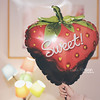 Sweet Chocolate Strawberry Balloon ❤ by Miss.Dua'a