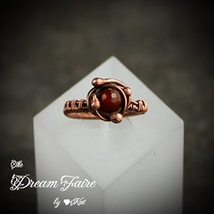 Carnelian Orbit Ring