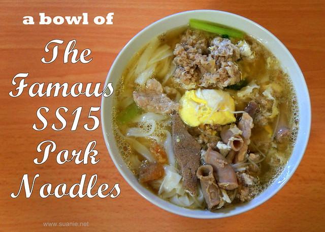 Famous SS15 pork noodles, Ooi Noodle House