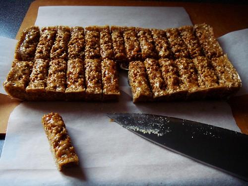Sesame Cardamom Candies: Cut It