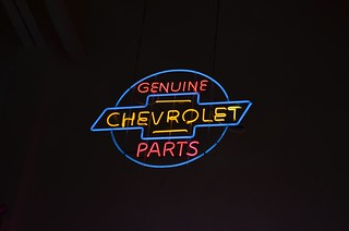 Chevy Parts Sign - Neon
