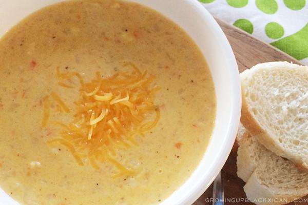 cheddar cauliflower corn chowder_