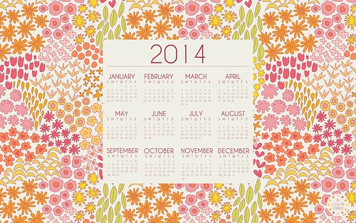 Dreamin Vintage 2014 Desktop Calender Warm by Jeni Baker