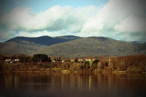 montagne lac paysage etang