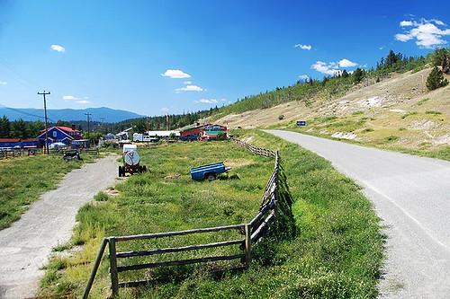 Highway 20 enters Tatla Lake, Chilcotin, British Columbia