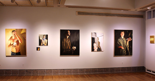 Installation view southwest wall