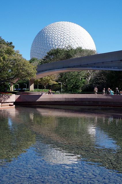 Epcot golf ball over the lake