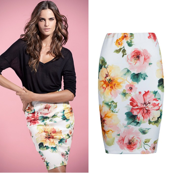 falda neopreno flores