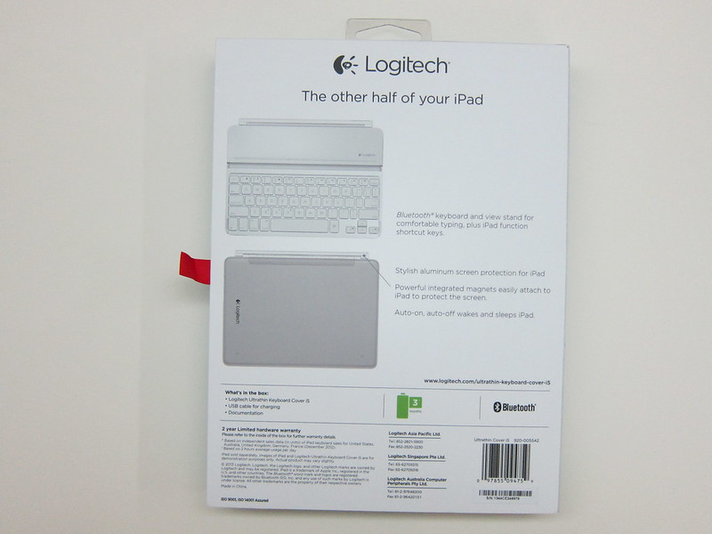 Ultrathin Keyboard Cover - Box Back