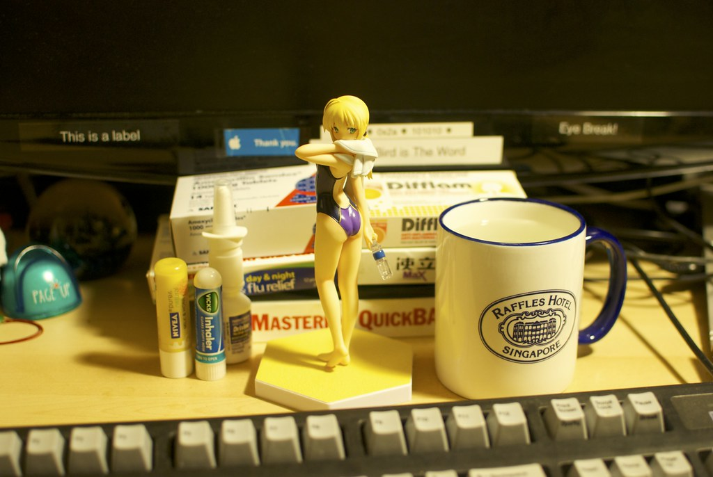 Saber, water and hot water