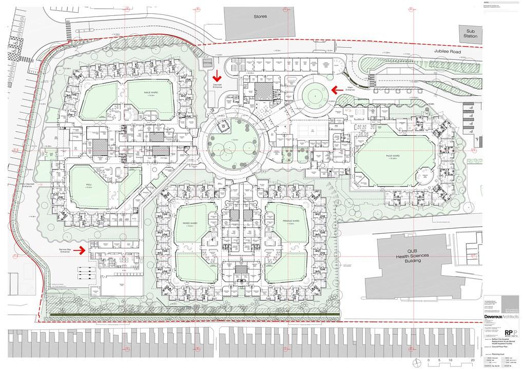 Richard murphy architects acute mental health facility for Floor plans health care facilities