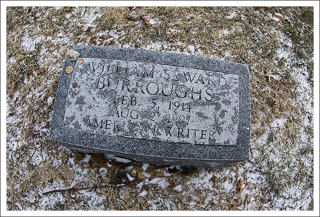 William S. Burrough's Gravestone 2014-02-02