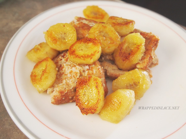 French Toasts with Caramelized Bananas