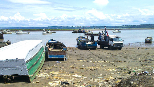 Port/beach of Cabinda