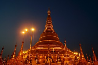 Image of  Shwedagon Pagoda  near  Shwedagon Pagoda. sunset nightshot selection sal1855