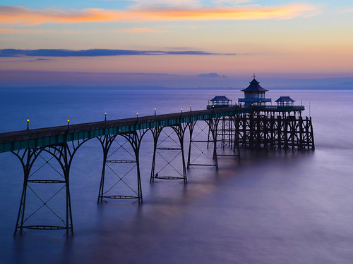 Clevedon Pier from above