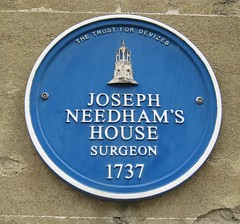 Photo of Joseph Needham blue plaque