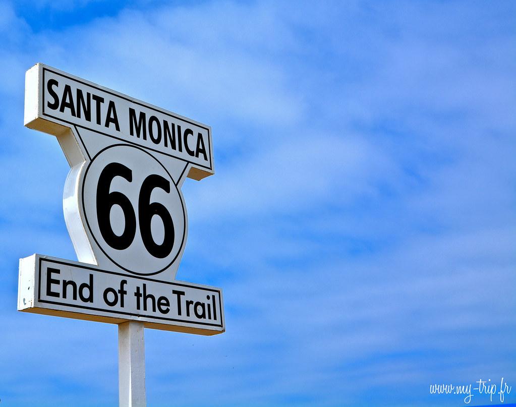 La fin de la route 66 arrive sur le quai de Santa Monica à Los Angeles