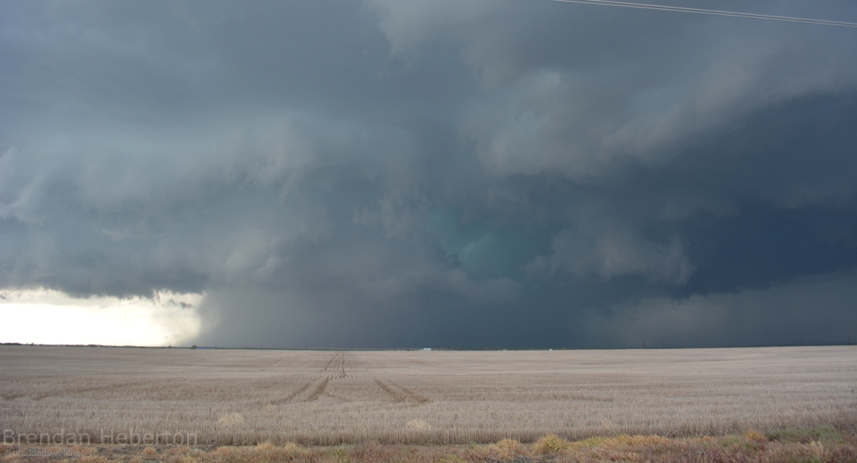 Tornado warned storm, DIA | Brendan Heberton