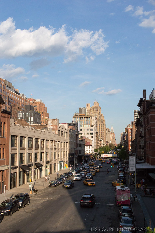 Street View from the High Line in New York