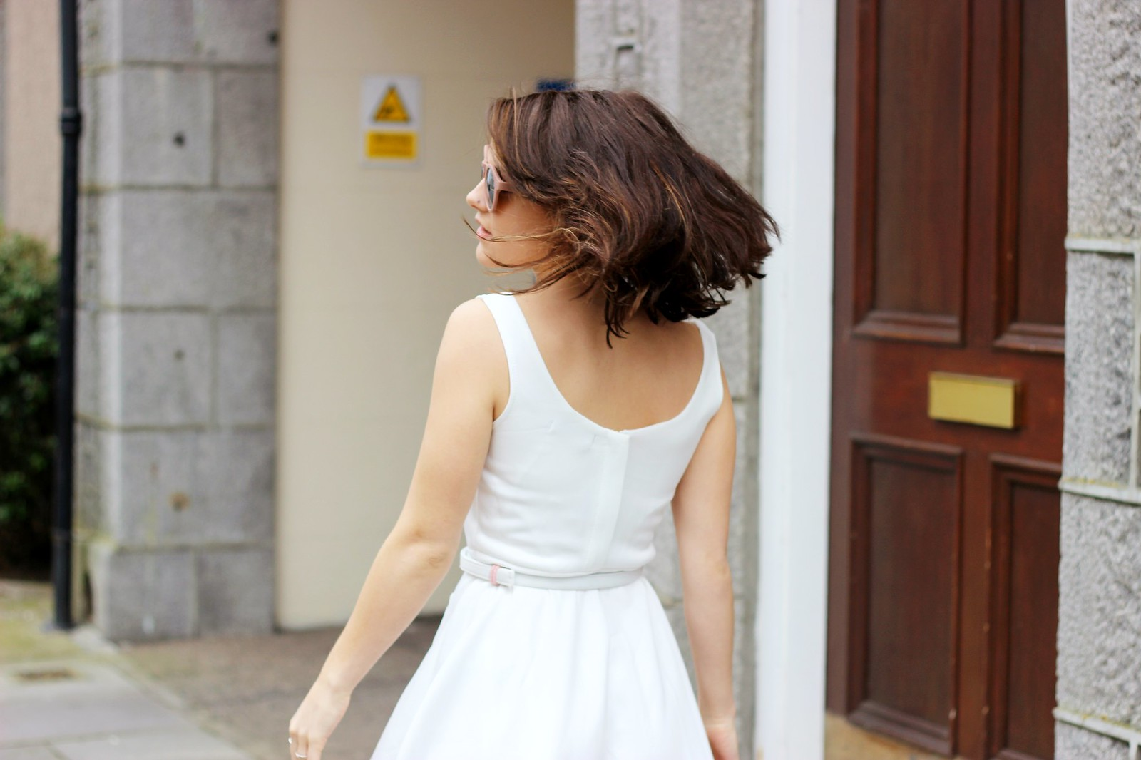 Choies white off shoulder midi dress 4