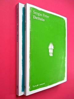Romanzi, collana di Tunué edizioni. Progetto grafico di Tomomot; impaginazione di TunuéLab. Dorsi, copertine [Barison, Peter] (part.), 1